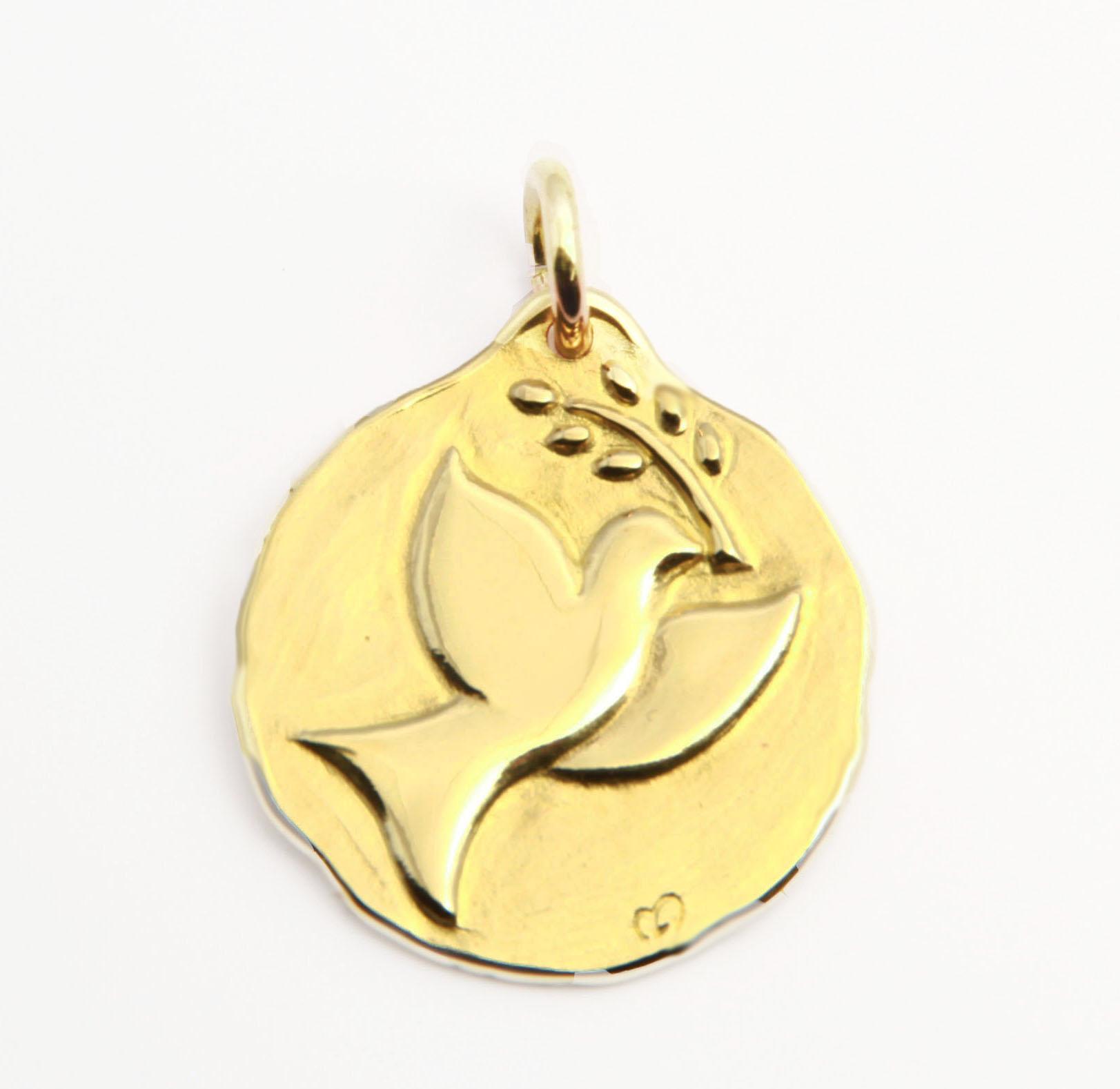 medaille colombe de bapteme