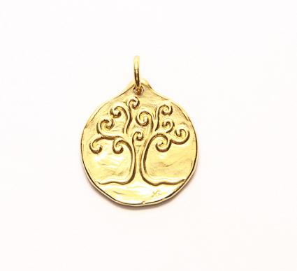 médaille de bapteme arbre de vie or