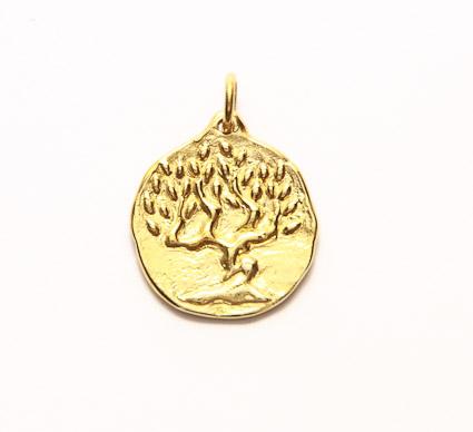 médaille de bapteme arbre olivier
