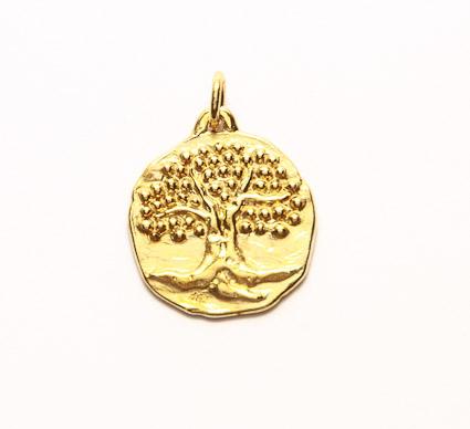 médaille de bapteme arbre originale