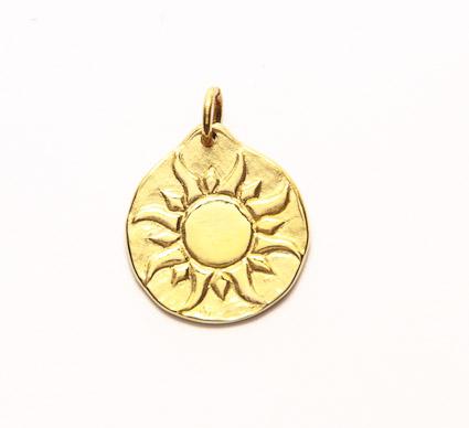 médaille de bapteme or jaune